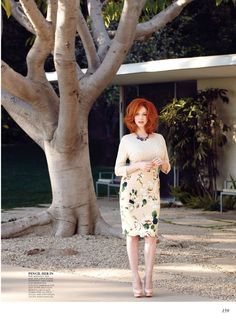 Joan would wear it to work, why shouldn't you? Christina Hendricks by Max Abadian for Flare #madmenstyle