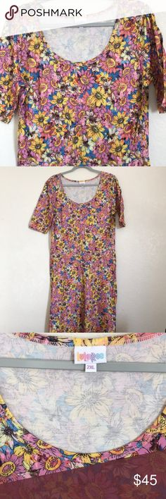 LulaRoe Ana sunflower dress NWOT. Excellent condition. Empire waist. Sunflower print🌻 LuLaRoe Dresses Maxi