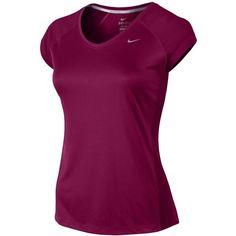 02f33a2aa5d50 Nike Dri-FIT Miler V-Neck Short Sleeve T-Shirt Women s ❤ liked