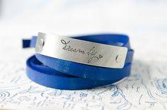 Dream Big  Adjustable Leather Wrap Bracelet by Cjohannesen on Etsy, $27.00
