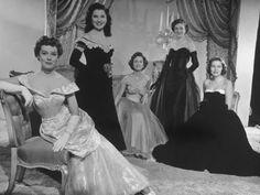 Movie Starlets Phyllis Kirk, Debra Paget, Debbie Reynolds, Jean Hagen, and Nancy Olson