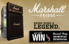 Gagnez un frigo à bar Marshall