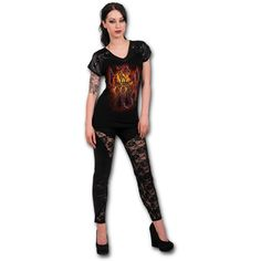 Tribal Fury Leather Look Studed Top https://www.highvoltageclothing.com  #clothing #loveit #biker #musthave