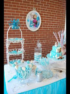 Frozen birthday party treats and candy!  See more party planning ideas at CatchMyParty.com!
