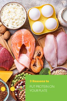 Every single cell in your body needs protein.There could be room for a little more protein on your plate. Oats Recipes, No Dairy Recipes, Fruit Recipes, Egg Recipes, Pork Recipes, Chicken Recipes, Vegetarian Recipes, Protein Rich Foods, Nutrient Rich Foods