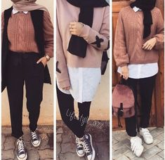 Modern Hijab Fashion, Street Hijab Fashion, Muslim Fashion, Stylish Hijab, Casual Hijab Outfit, Casual Outfits, Uni Outfits, Fashion Outfits, Hijab Style Tutorial