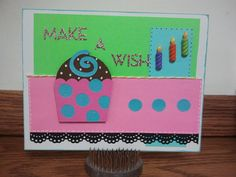 Make a Wish Birthday Greeting Card by BitsNPiecesGifts on Etsy, $3.00