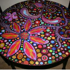 Love this painted furniture
