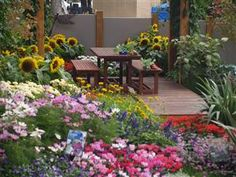 Landscaping Courses - Home study gardening and horticulture courses, and gardening tips Beautiful Flowers Garden, Love Garden, Dream Garden, Beautiful Gardens, Courtyard Landscaping, Courtyard Ideas, Hydrangea Care, Small Courtyards, Summer Landscape