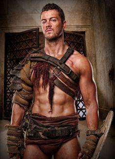 Agron, played by Dan Feuerriegel from the Starz TV show Spartacus