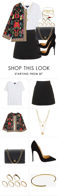 """""""Untitled #3463"""" by hellomissapple ❤ liked on Polyvore featuring MANGO, Topshop, Forever 21, Chanel, Christian Louboutin, ASOS, Le Gramme, CO, Minor Obsessions and women's clothing"""