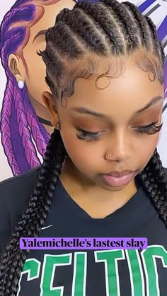 Braided Cornrow Hairstyles, Feed In Braids Hairstyles, Sporty Hairstyles, Braided Hairstyles For Black Women, Braided Hairstyles For Wedding, Braids For Short Hair, Hairstyles Videos, Curly Hair, Protective Hairstyles