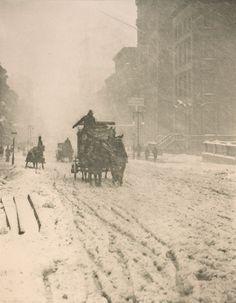 Alfred Stieglitz: Winter on Fifth Avenue, 1893