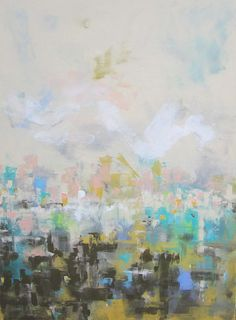 (original) Abstract Cityscape by Linda Donahue $565