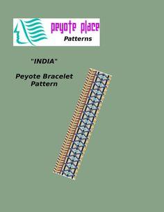 INDIA Peyote Bracelet Pattern