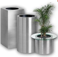 52 Best Stainless Steel Planters Pots And Containers Metal Planters