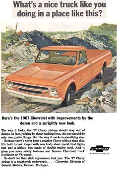 1967 Chevrolet C10 Updated styling features for the 1967 Chevy Pickup trucks came with new body sheet metal that helps fight rust and a p...