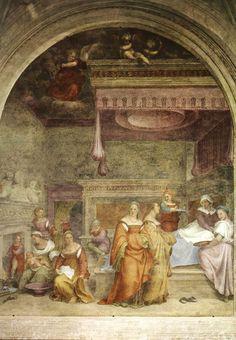 Andrea del Sarto - Natività della Vergine - Affresco - 1514 - Chiostrino dei voti - Chiesa Santissima Annunziata - Firenze