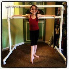 createbellacreate: DIY Tutorial Free Standing Ballet Barre {How to Make}