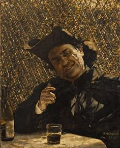 Priest Drinking Wine. Study for 'Altana' by Aleksander Gierymski, 1880