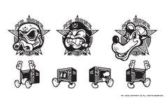 Kone Brand 2011 by Mr. Kone, via Behance Vector Animation, Logo Character, Old School Tattoo Designs, Graffiti Characters, Typography Logo, Logos, Branding, Street Art Graffiti, Retro Art