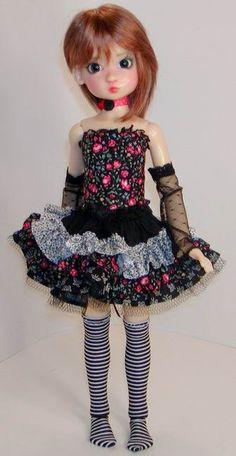 Corset & Ruffled Skirt Sets  - Kaye Wiggs MSD - DollsTown 7 - similar  BJD- Choose Fabrics. $75.00, via Etsy.
