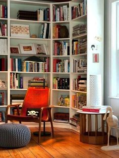 Stupefying Ikea Billy Bookcase decorating ideas for Living Room Contemporary design ideas with Stupefying books bookshelves corner Corner Shelving Unit, Corner Bookshelves, Ikea Billy Bookcase, Bookshelf Design, Bookcase Decorating, Shelving Units, Book Shelves, Rustic Bookshelf, Bookshelf Ideas
