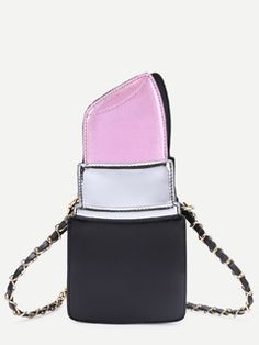 Online shopping for Pink Lipstick Shape PU Chain Bag from a great selection of women's fashion clothing & more at MakeMeChic. Unique Purses, Unique Bags, Cute Purses, Novelty Handbags, Novelty Bags, Cute Handbags, Purses And Handbags, Mochila Adidas, Cute Mini Backpacks