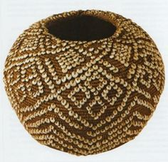 Native Peoples www.potreroarchives.com295 × 285Search by image Classic San Francisco Bay Area coiled basket with olivella shell disc beads, abalone pendants and European glass trade beads in the Museum fur Weltkulturen, Frankfort. From Indian Baskets of Central California by