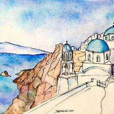 Recién salido del horno, #Santorini 😍🐟☀️