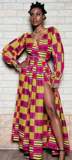 African print wrap dress. African print dinner dress, floor length, african…                                                                                                                                                                                 More