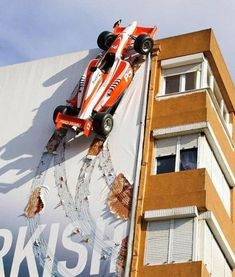 F1 Car Building Advertisement