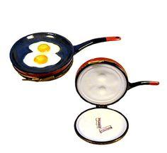 Limoges Frying Eggs Trinket Box w Bacon Inside.
