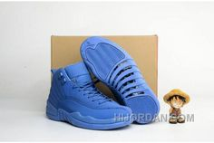 "https://www.hijordan.com/2016-air-jordan-12-blue-suede-shoes-cheap-to-buy-5npse.html 2016 AIR JORDAN 12 ""BLUE SUEDE"" SHOES CHEAP TO BUY 5NPSE Only $93.80 , Free Shipping!"