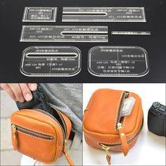 Clear Acrylic Waist Bag Pattern Stencil Template Set Leather Craft Tool - New In Tops