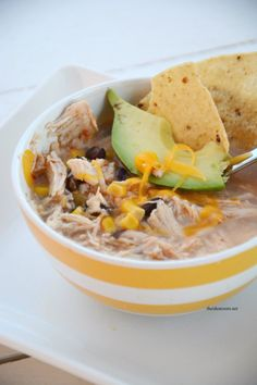 Make this delicious Crock Pot Chicken and Black Bean Soup Recipe. So easy and tastes so good it will be a hit with every one in the family…even the kids!