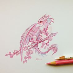 Pencil Art Drawings, Art Drawings Sketches, Animal Drawings, Cool Drawings, Cute Dragon Drawing, Dragon Sketch, Cute Dragon Tattoo, Cute Fantasy Creatures, Mythical Creatures Art