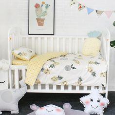 Baby Room Themes, Bedroom Themes, Kids Bedroom, Baby Pineapple, Pineapple Art, Girls Cot Bedding, Girl Nursery, Girl Room, Firefighter Baby
