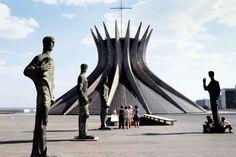 Brasilia Cathedral in the Brazilian capital by Oscar Niemeyer