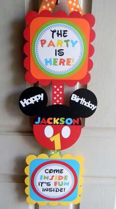 Mickey Mouse Clubhouse Birthday Party Deluxe Door Sign