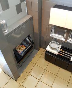 Autumn Stream House MOC kitchen pizza oven