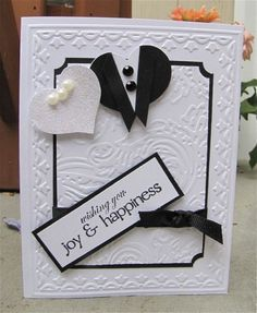 Wedding Card - Custom Made - Black,white - Happiness,Congratulations