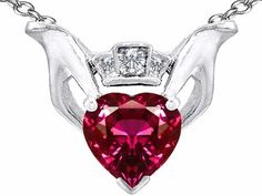 Celtic Love by Kelly 8mm Heart Claddagh Pendant With Created Ruby in .925 Sterling Silver Finejewelers, http://www.amazon.com/dp/B00702MFJ0/ref=cm_sw_r_pi_dp_XeQ5qb0ABDRAA