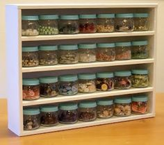 Repurposed Jars If you are a crafter, you'll love this idea using baby food jars.