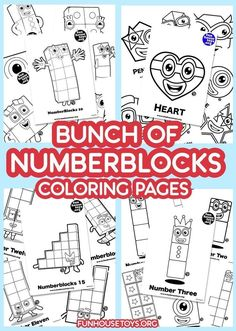 Have some fun with our collection of numberblocks printables. Find Printable Coloring Pages from Numberblocks here. Fun Printables For Kids, Preschool Printables, Preschool Worksheets, Toy House, Best Pens, Educational Crafts, Preschool At Home, Learning Numbers, Games For Teens