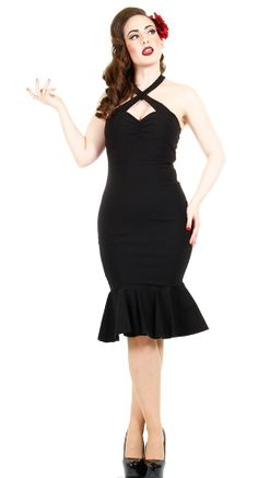 Steady Clothing Cherry Dollface Dress in Black | Blame Betty