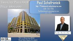 Two City Plaza for Sale Unit 918-701 S. Olive Ave West Palm Beach, Florida 33401  https://gp1pro.com/USA/FL/Palm_Beach/West_Palm_Beach/Two_City_Plaza/701_S__Olive_Ave__918.html  Immaculate condo for sale in Two City Plaza. Stunning Water Views. Walking distance  to City Place shopping, Clematis Street entertainment, and the island of Palm Beach. This amazing condo is Elegantly Designed with all the perfect Palm Beach finishes you would expect for this Direct East Condominium. Expansive views…