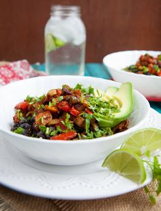 Roasted Veggie and Black Bean Rice Bowls