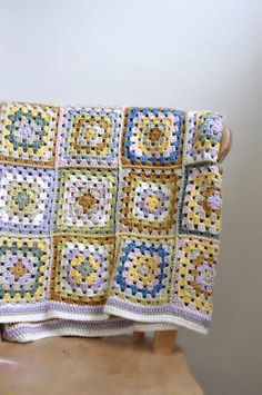 Granny Square Crochet Lap Blanket - MADE TO ORDER on Luulla