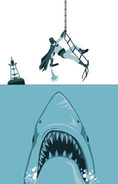Quick, Robin! Get me the shark repellant!